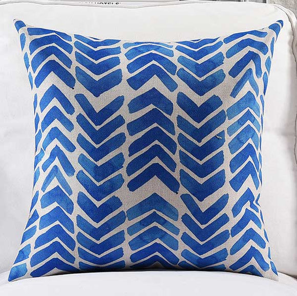 Elegant Waves Cushion Cover
