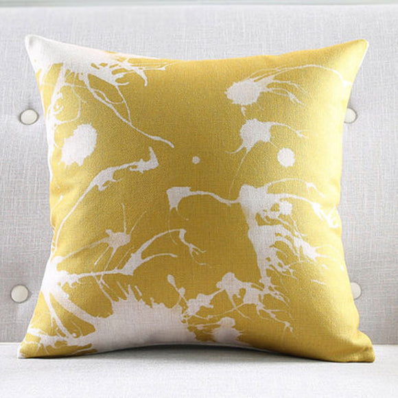 Gold Flakes Cushion Cover