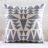 Grey Abstract Cushion cover