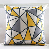 Grey Yellow abstract Cushion cover