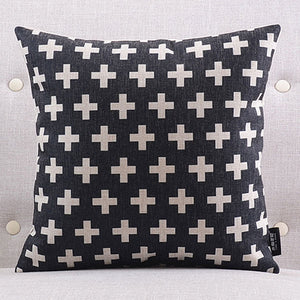 Hot Cross Black Cushion cover