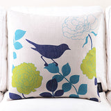 Kingfisher Blue Cushion cover
