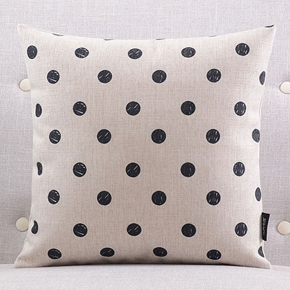 Polka Black Dots Cushion cover