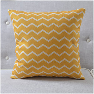 Yellow Waves Cushion Cover