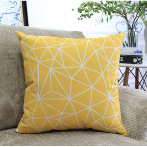 Times Square Yellow Cushion Cover