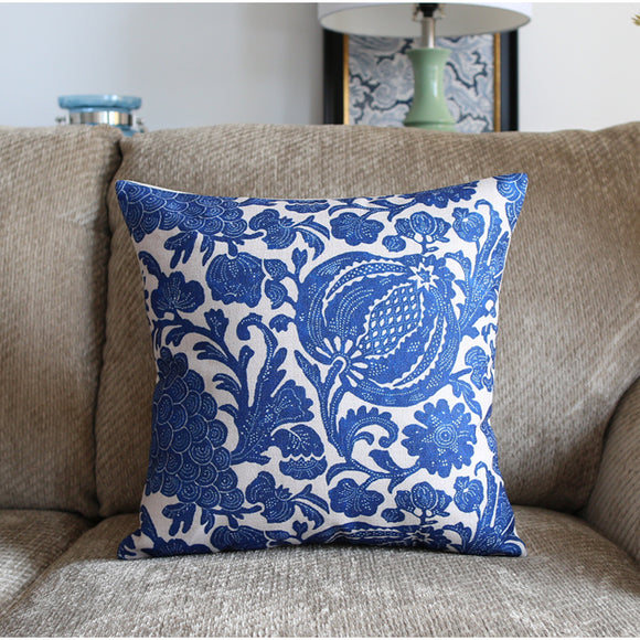 Protea Blue Cushion Cover