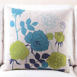 Rose Blue Cushion cover