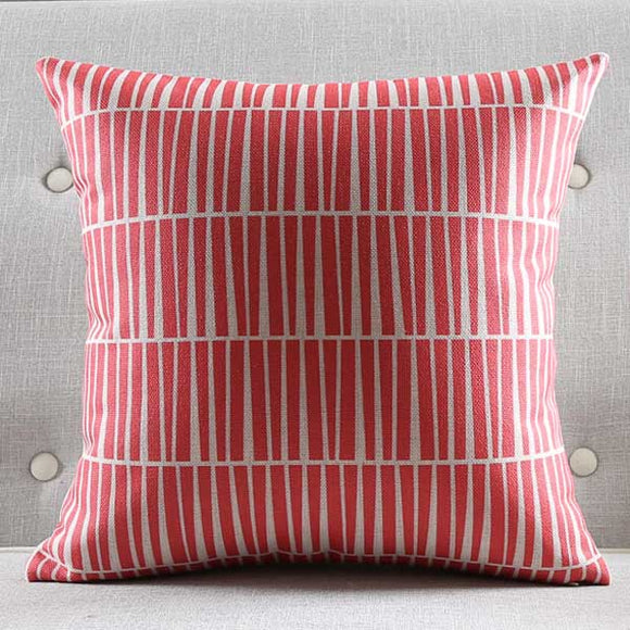 Scarlet Stripes Cushion Cover