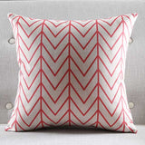 Scarlet Waves Cushion Cover