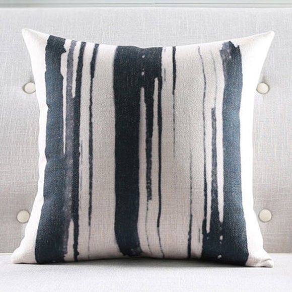Strokes Black Cushion Cover