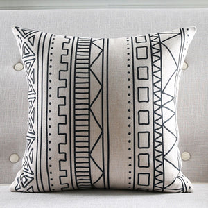 Subtle Black Cushion Cover