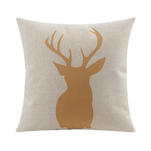 Yellow Stag Cushion Cover