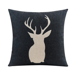 Black Stag Cushion Cover
