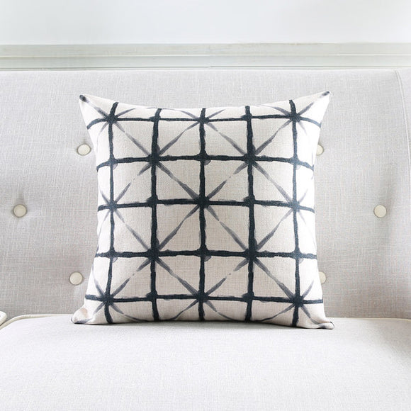 Light Criss Cross Black Cushion Cover