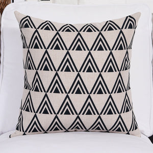 Tiered Black Cushion Cover