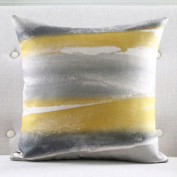 Whirlpool grey & yellow Cushion Cover