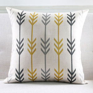 Yellow black Arrows Cushion Cover