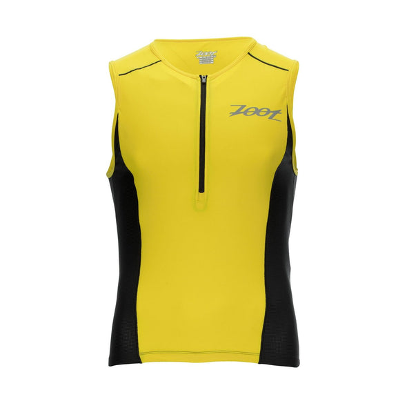 M ACTIVE TRI MESH TANK PURE YELLOW/BLACK