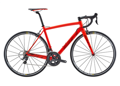 BICICLETA BH ULTRALIGHT RUTA ULTEGRA 18, MATTE GREY RED GREY