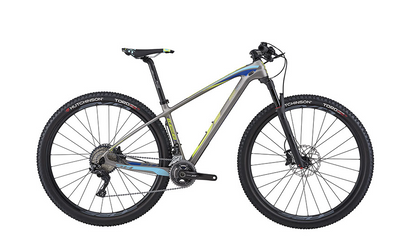 BICICLETA BH ULTIMATE RC 29 BOOST XT 22S, GRIS MATE/AMARILLO AZUL, MD