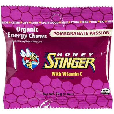 HONEY STINGER CHEWS POMEGRANATE PASSION