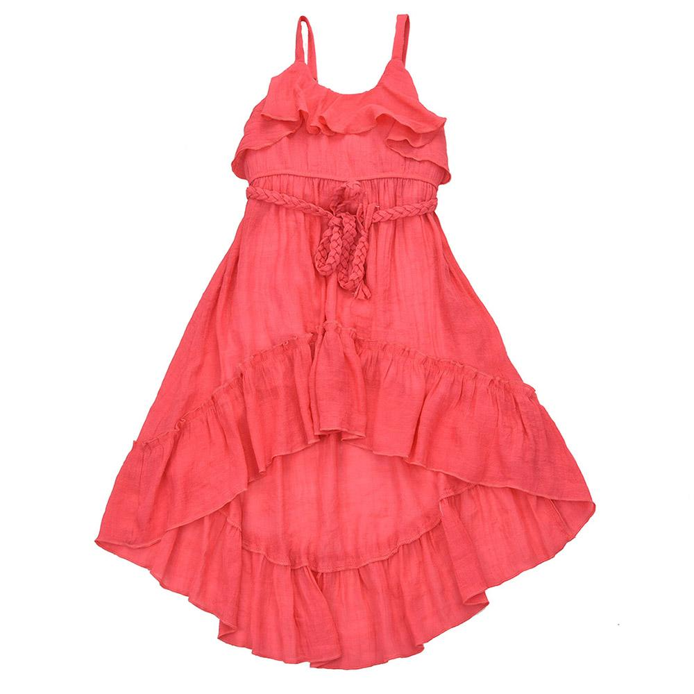 Toddler/ Girls Coral High Low Dress