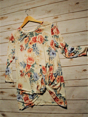 Women's Cream & Floral Tunic