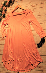 Women's Peach Tunic Dress