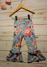 Toddler and Girls Floral Belle Ruffle Pants