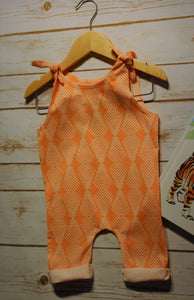 Baby Girl Apricot Romper