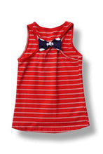 Toddler Red Stripes and Bows Tank