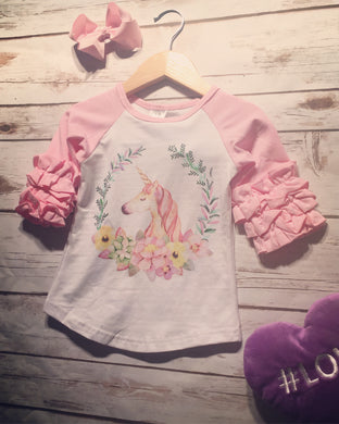 Unicorn Raglan (Toddler/ Girls)