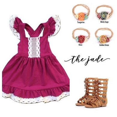 Toddler Fuschia Ruffle Lace Dress