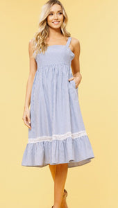 Women's Ticking Strip Sundress