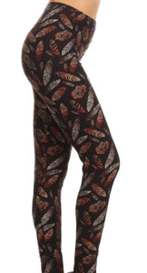 Women's Fall Feather Leggings