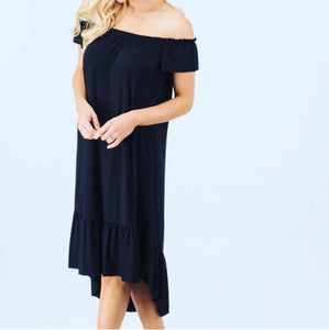 Women's black off shoulder dress