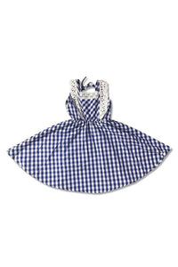 Toddler and Girls Blue Plaid Dress