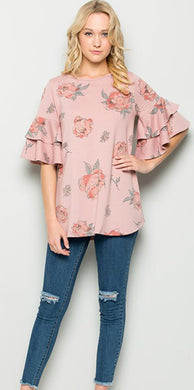 Women's Ruffle Sleeve Tunic