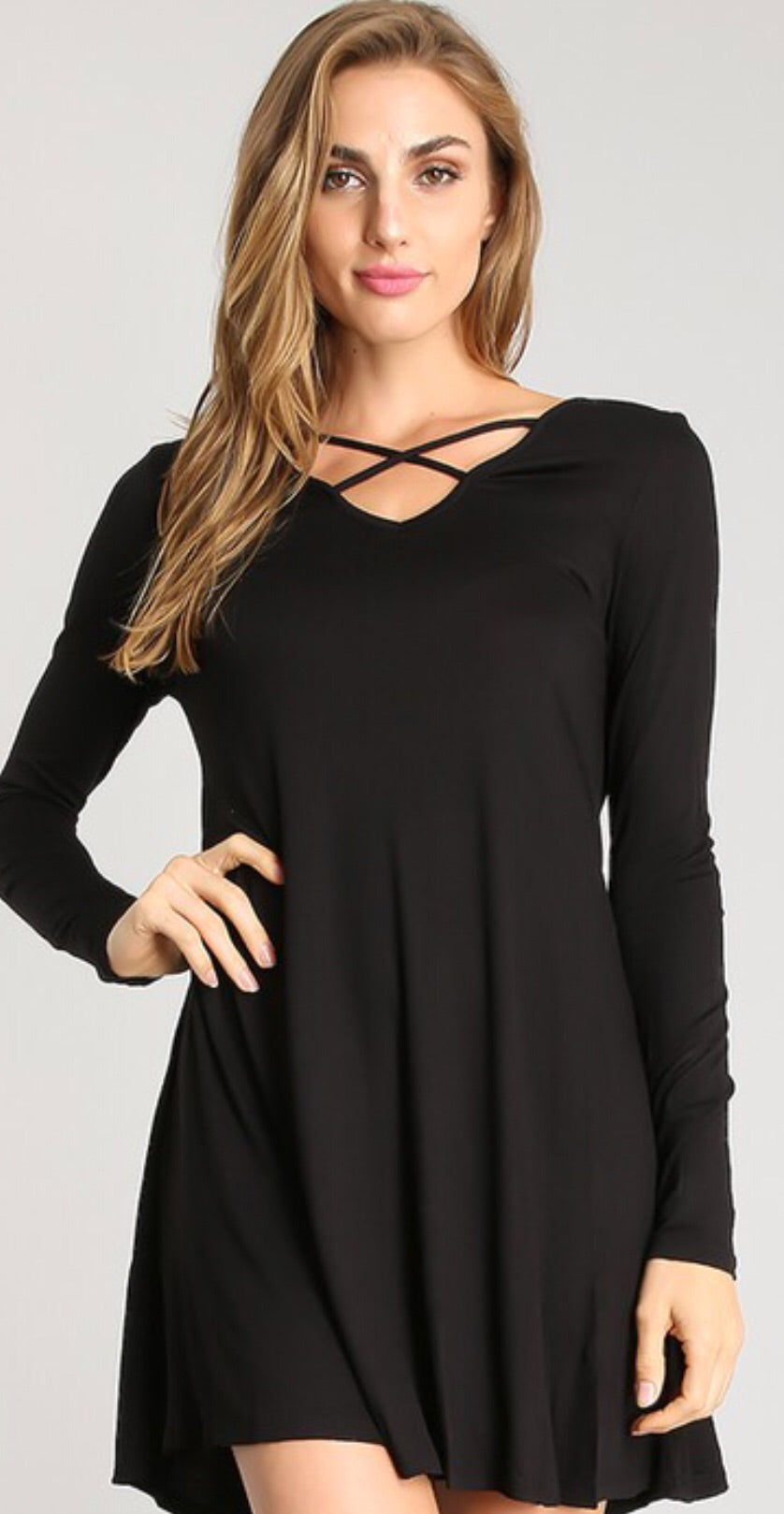 Women's Crisscrossed Tunic Dress