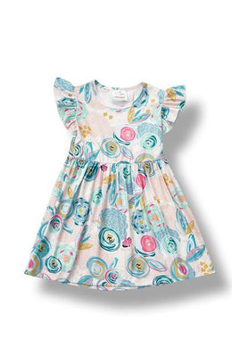 Toddler and Girls Oil Painting Dress