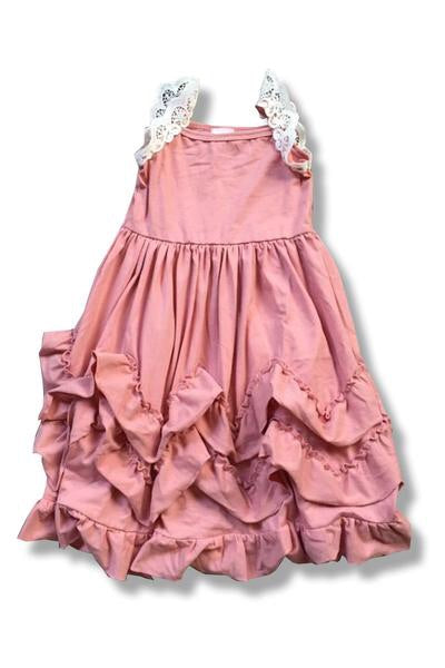 Toddler and Girls Lace Ruffle Dress