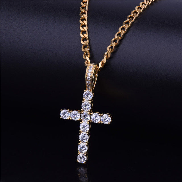 24ed4da48dfb4 Iced Out Cross Necklace