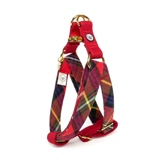 Canvas Easy Step-In Harness in Jolly Red Plaid