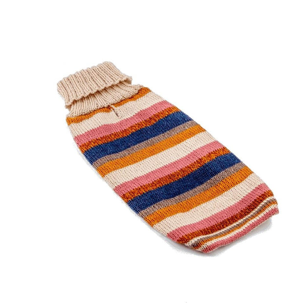 Multicolored Striped Wool Dog Sweater