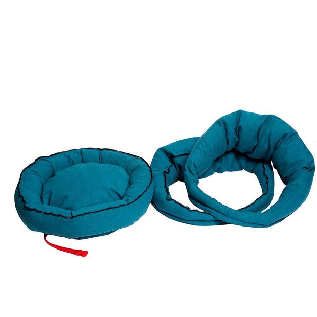 The Mighty Bolster Dog Bed in Teal - This Dog's Life