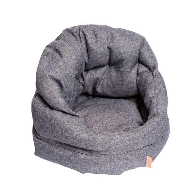 The Mighty Bolster Dog Bed in Heather Gray - This Dog's Life