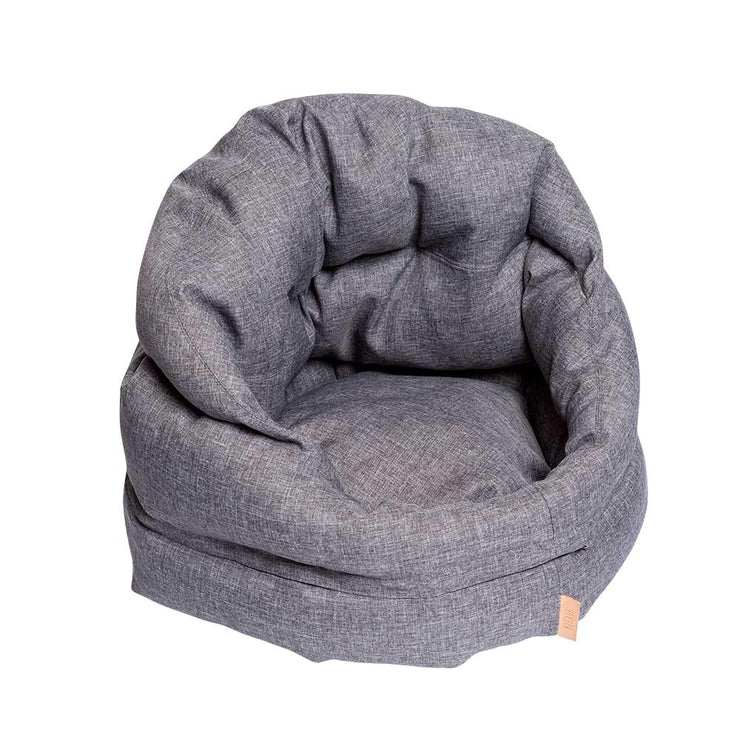 The Mighty Bolster Dog Bed in Heather Gray