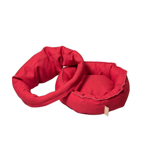 The Mighty Bolster Dog Bed in Tomato - This Dog's Life