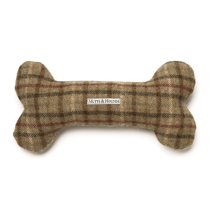 Classic Squeaky Tweed and Herringbone Dog Bone Bundle