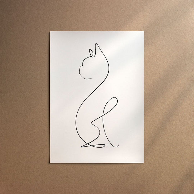 "Custom Breed Minimalist Dog Artwork in White (11"" x 17"") - This Dog's Life"